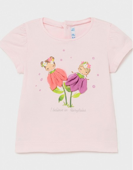 Rose Ecofriends Flowers Appliqué T-Shirt