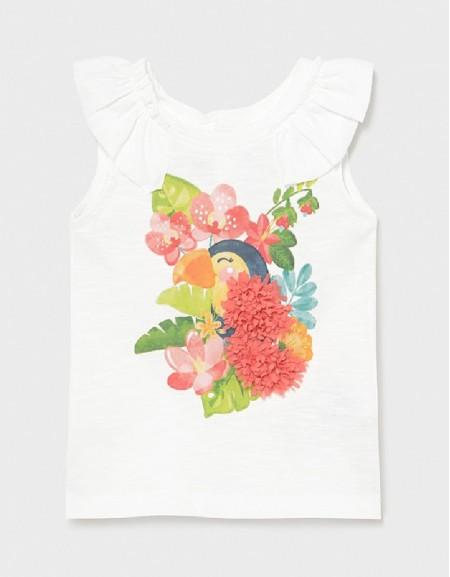White S/S Printed Tshirt
