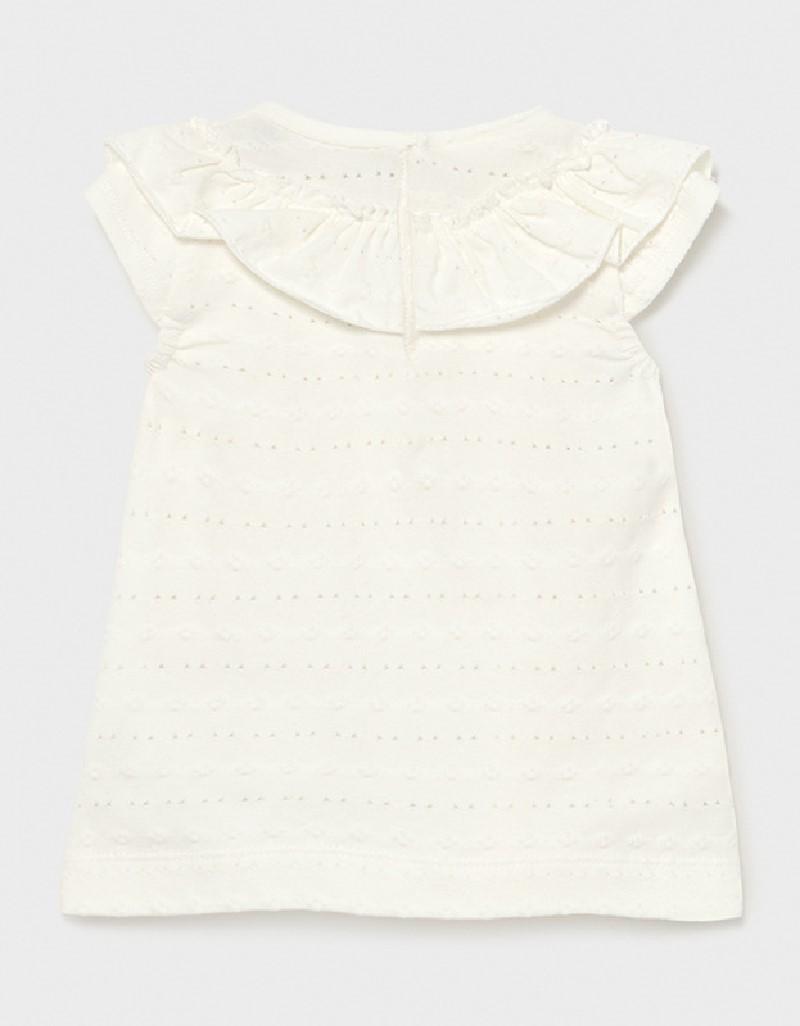 Natural Ruffle T-Shirt