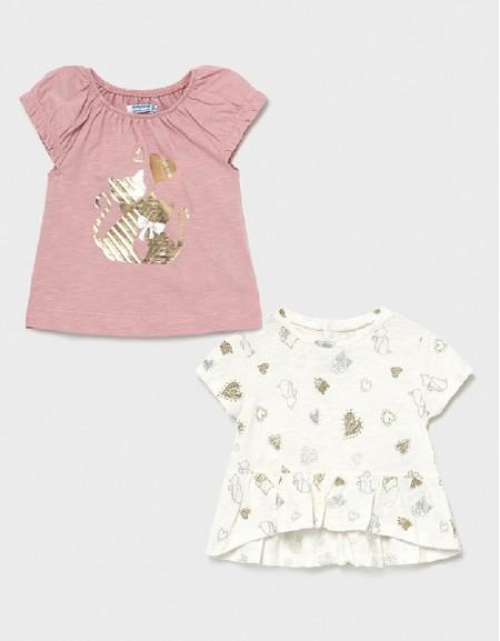 Pink Set Kurzarm Shirt 2-Teilig Ecofriends