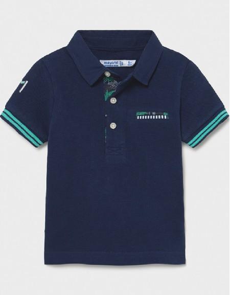 Blue Appliqué Polo For Baby Boy