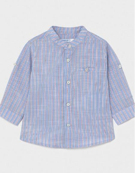 Lavender Linen Stripped L/S Shirt