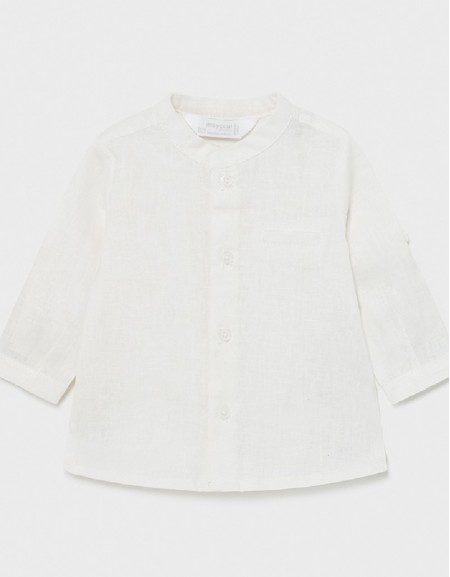 Cream Long Sleeve Shirt