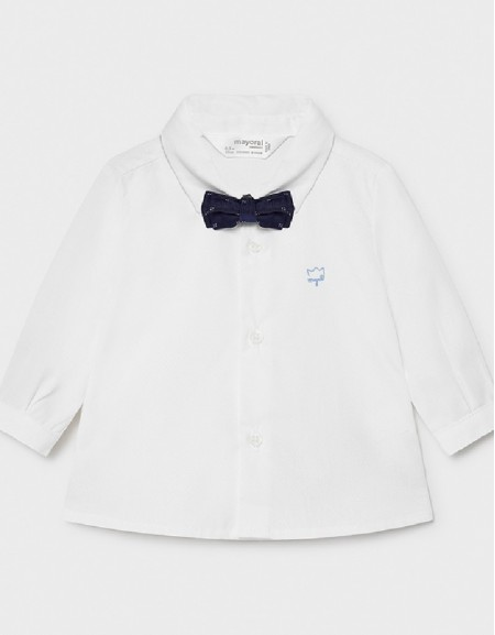 White L/S Shirt And Bowtie