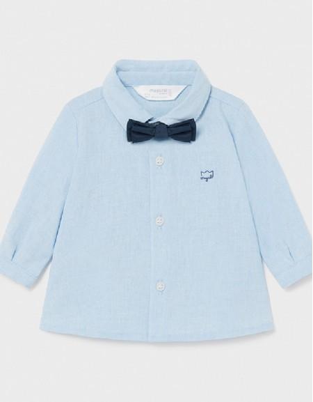 Aqua L/S Shirt And Bowtie