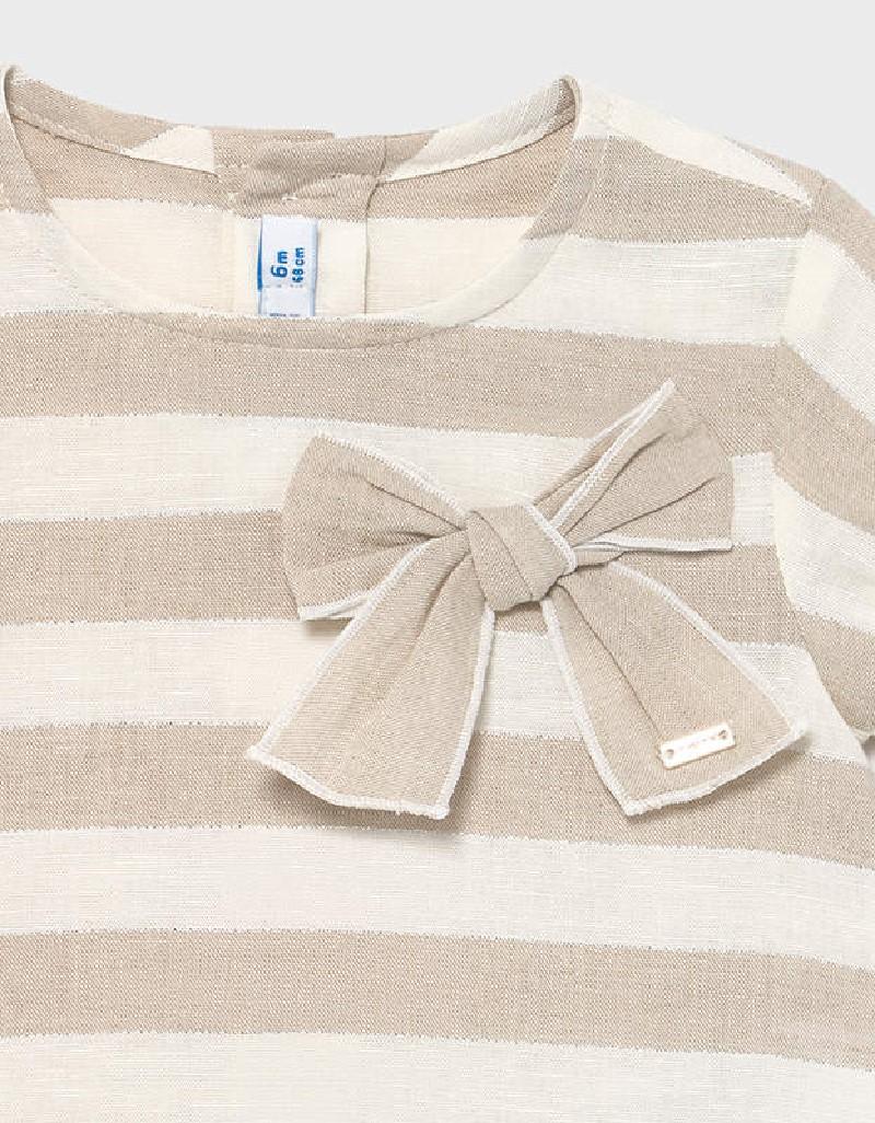 Linen Linen Striped Blouse