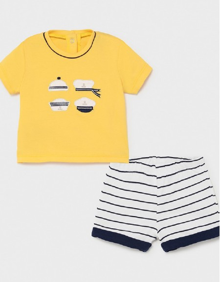 Yellow T-Shirt And Shorts Set
