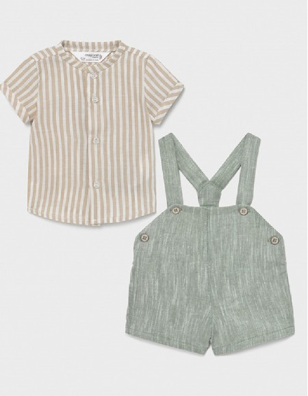 Bamboo Shorts With Suspenders Set