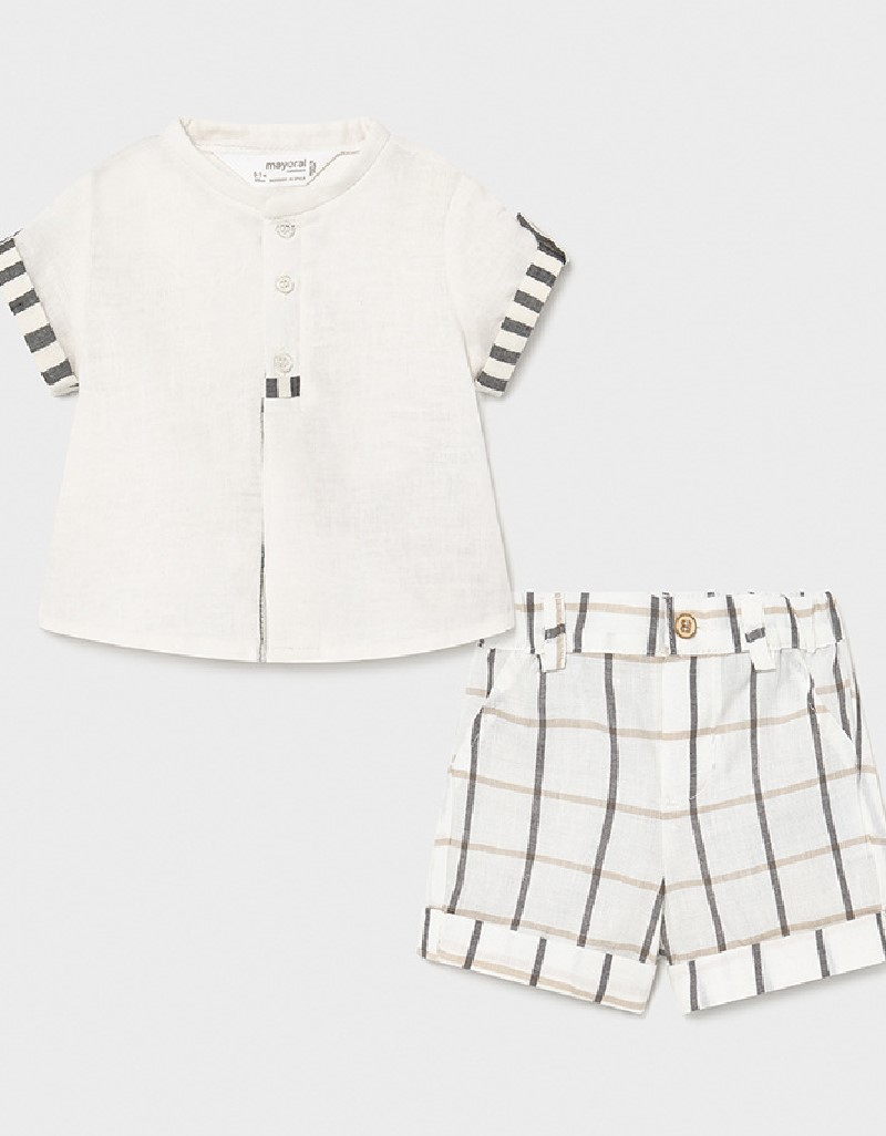 Black Short Set With Shirt