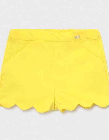Yellow Ecofriends Ottoman Shorts