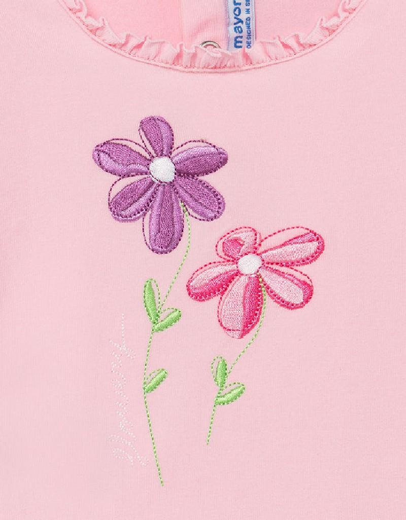 Rose Embroidered Bermuda Set