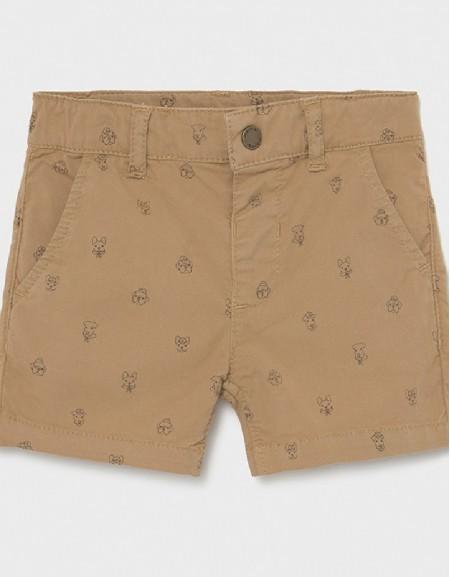 Camel Micro Printed Shorts