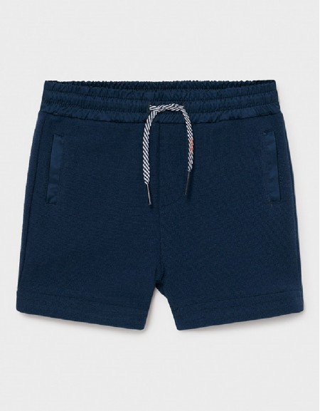 Blue Knit Shorts