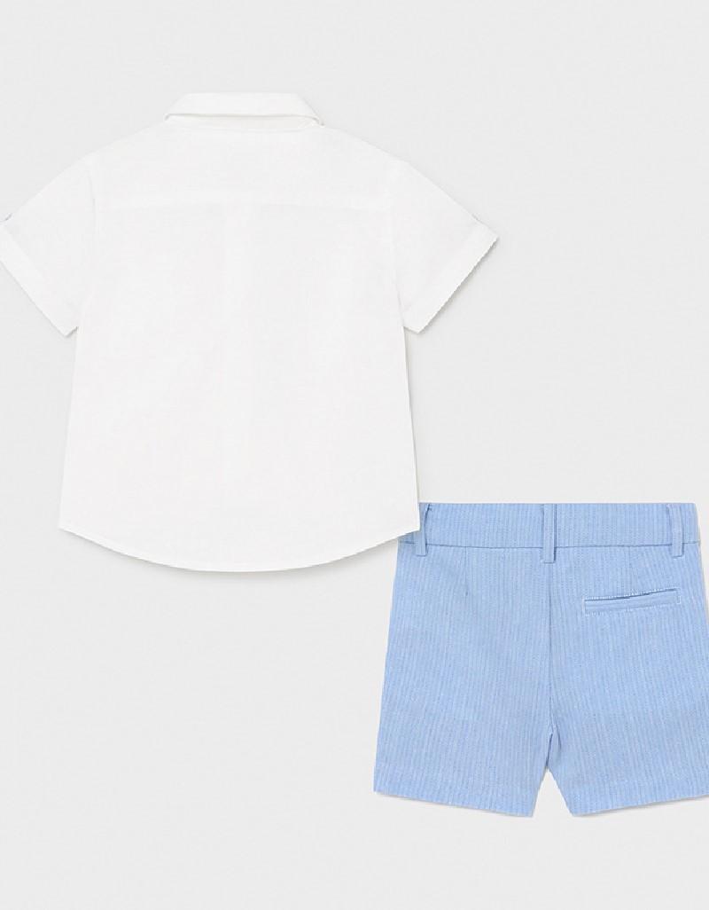 Lavender Dressy Linen Short Set