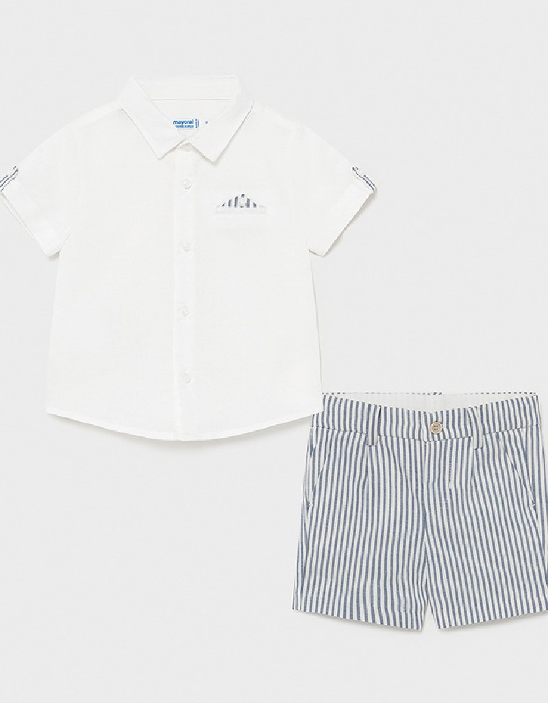 Nautical Dressy Linen Short Set