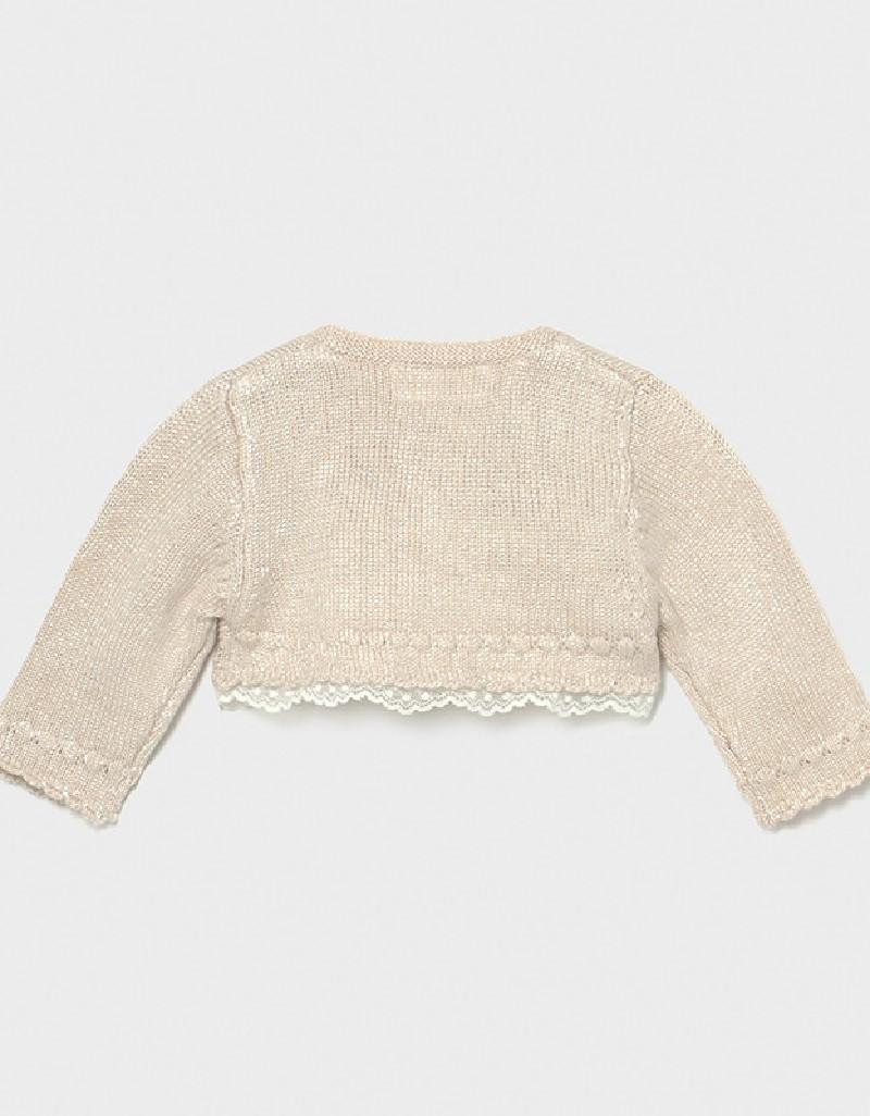 Beige Dressy Knit Cardigan
