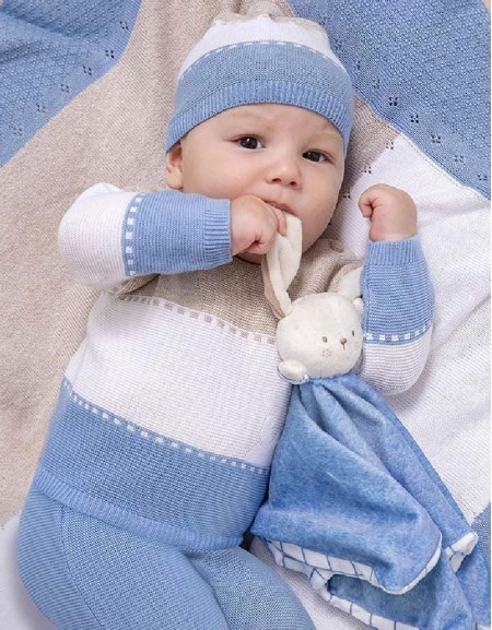 Lightblue Knit Leg Warmer Set