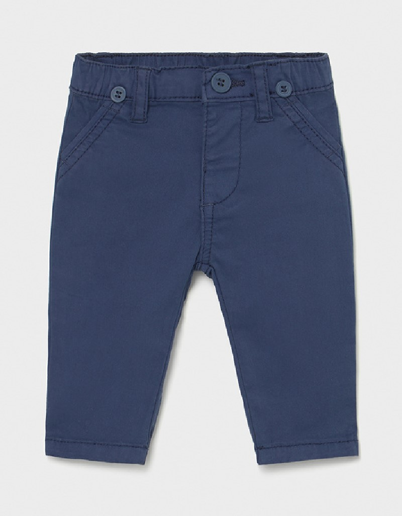 Blue Long Trousers With Suspenders