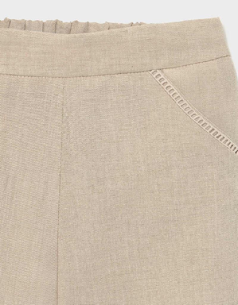 Linen Cropped Linen Pant