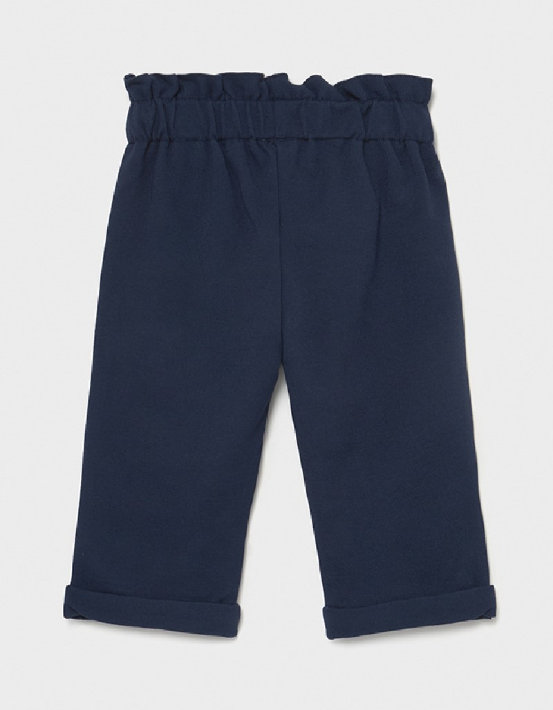 Navy Knit Trousers