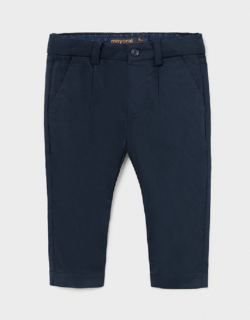 Navy Dressy Linen Pants