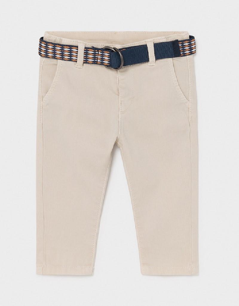 Canvas Pique Trousers W/ Belt