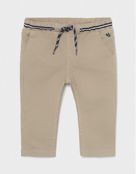 Sand Patent Waist Twill Pants