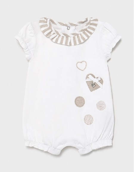White Embroided Onesie