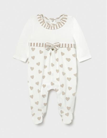 Taupe Knitted Heart Pyjama