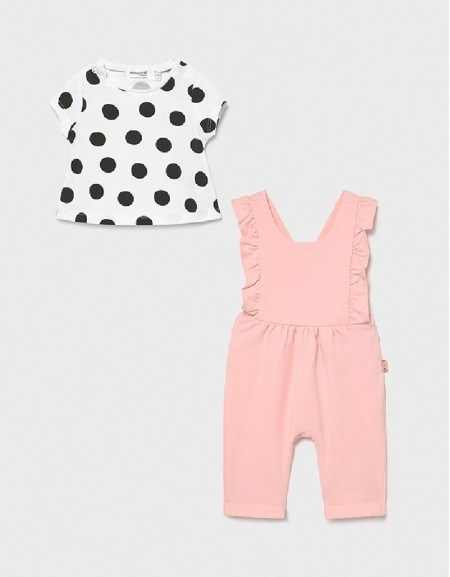 Pale Blush Overall Knitted Pant Set