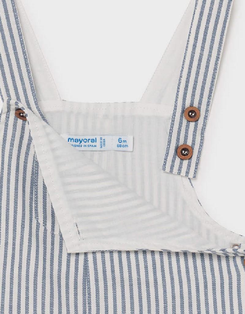 Nautical Linen Striped Short Overall