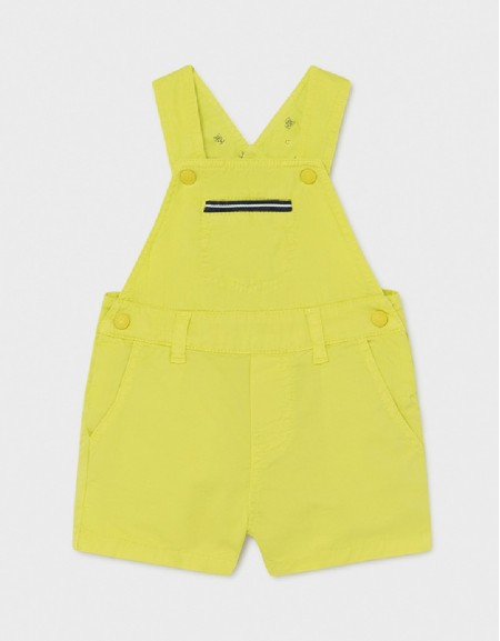 Lime Twill Short Overalls
