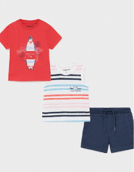 Cyber Red Knit Surf Set