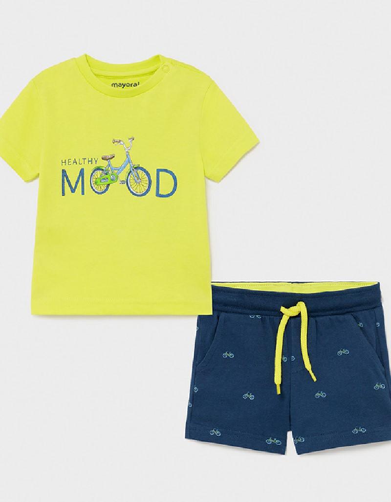 Lime Printed Shorts Set