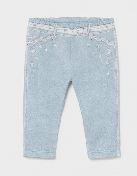 Bleached Ecofriends Leggings For Baby Girl