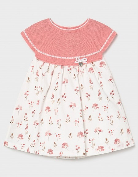 Pink Tricot Combined Dress
