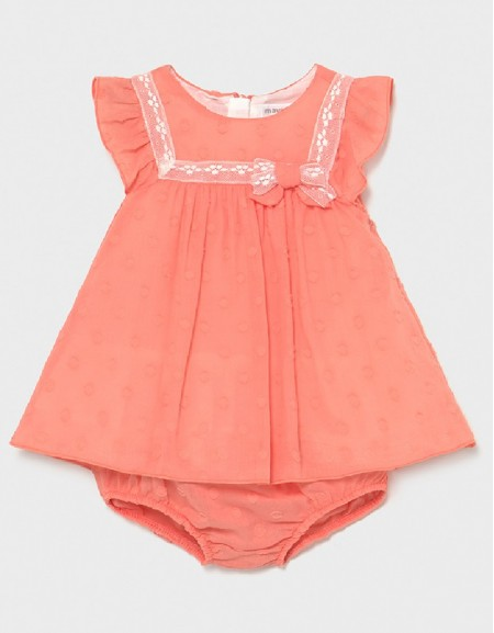 Sorbet Pink Linen Dress With Knickers