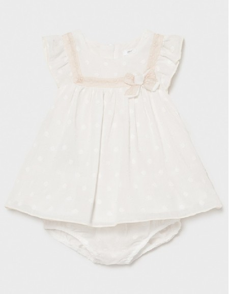 Natural Pink Linen Dress With Knickers