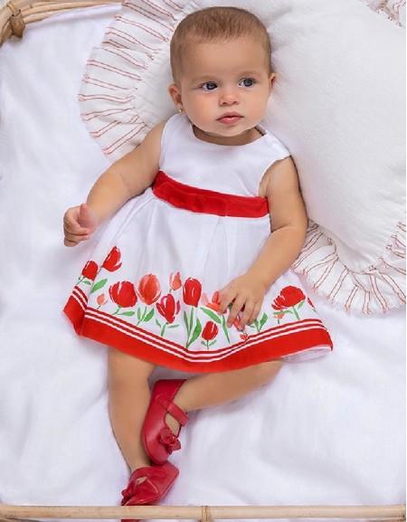 Red Border Dress