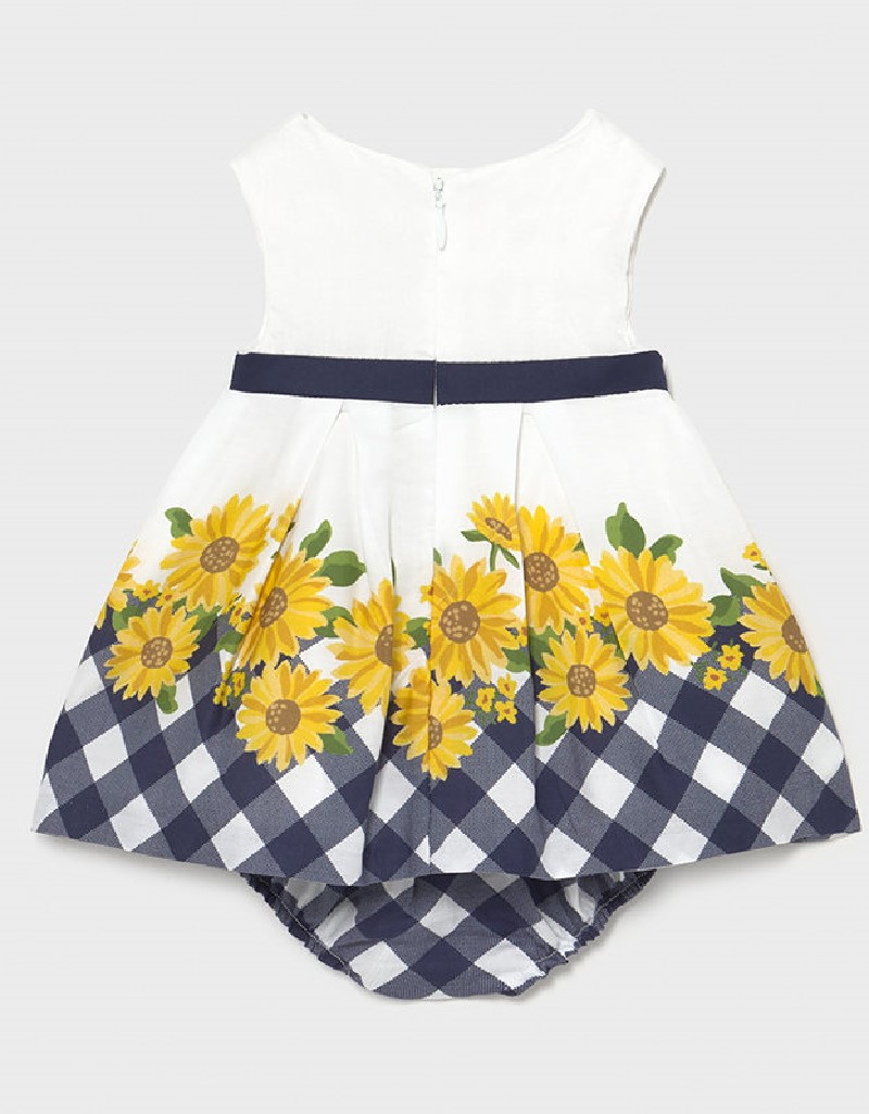 Navy Border Dress