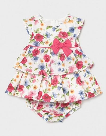 Pink Printed Dress Set 2