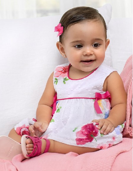 Pink Flowers And Bows Dress