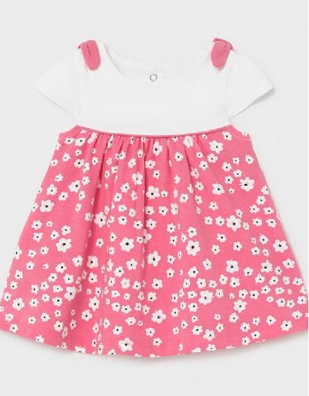 Pink Printed Knit Dress