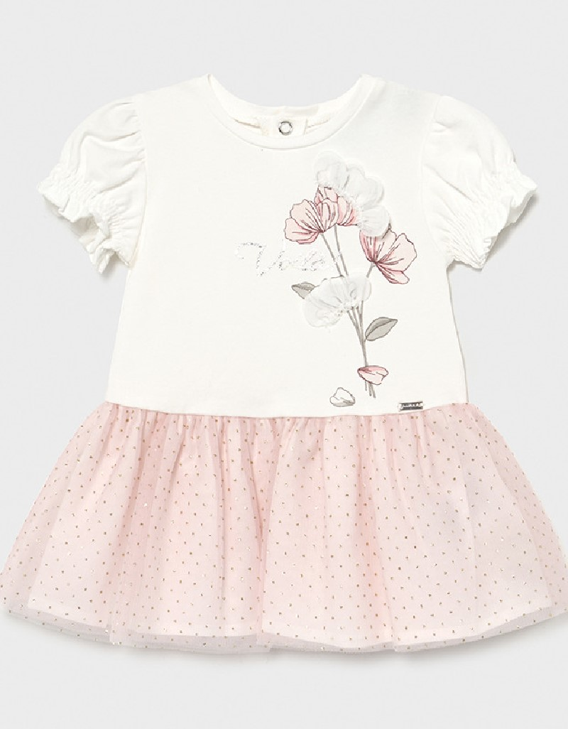 Pink Baby Dress With Flower