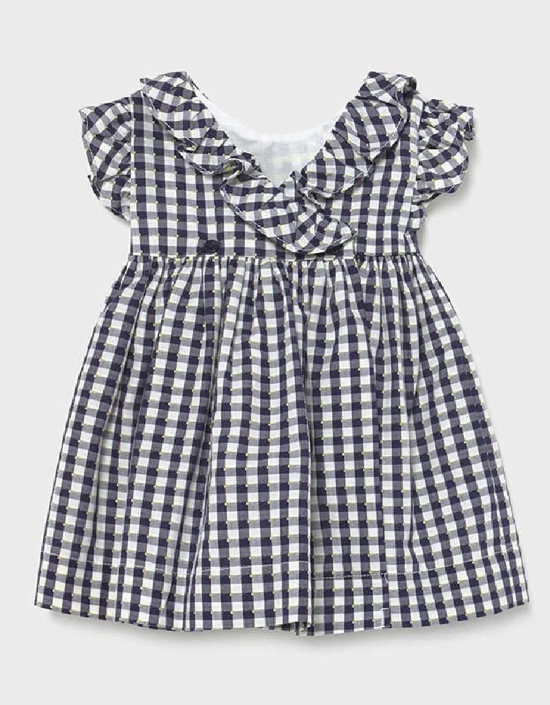 Navy Vichy Dress