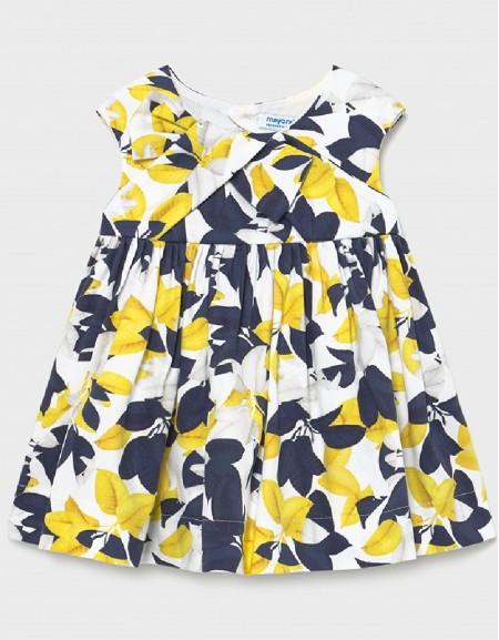 Yellow Satin Printed Dress