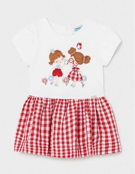 Poppy Knitted Dress Gingham