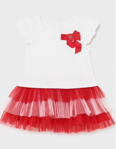 Poppy Combined Knit And Tulle Dress