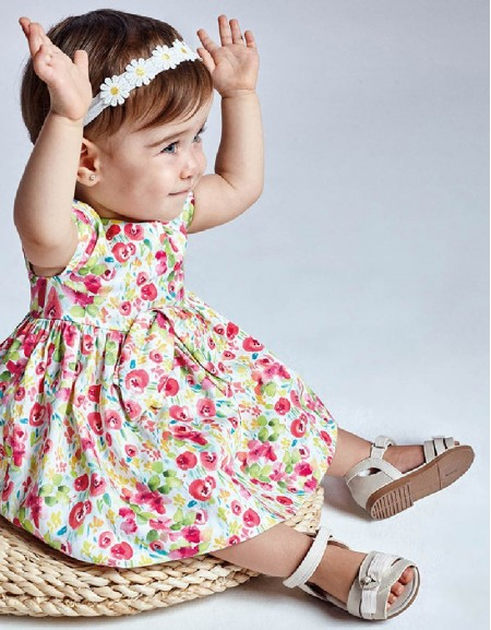 Camellia Flower Print Dress