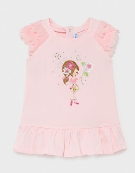 Rose Knit Ruffle Dress